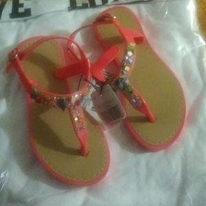 🍄Toddler Orange slippers